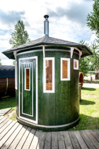 Barrel sauna Vertical exteriér