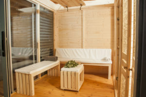 Sauna CUBE Grant Plus interier